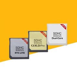 telefones celulares importados Desconto R4 SDHC Gold Pro, Núcleo Duplo, RTS LTE, WIFI R4 SDHC RTS, Kit de Adaptador de Cartão Flash Puls Dourado para NDS 3DS