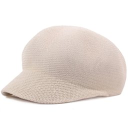 ad48c90038472 Women Mens Unisex Beret Hat Solid Color Baker Boy Visor Cap Ivy Cabbie  Straw Material