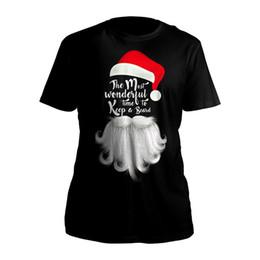 Мужские Рождество Санта борода новинка Рождество праздник весело хлопок футболки (S-3XL) 100% хлопок футболки Марка одежда топы тройники cheap xmas novelty clothing от Поставщики рождественская одежда
