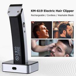 Taglio capelli kemei online-Kemei KM-619 Professionale Hair Trimmer Hair Clipper Shaver Electric Shaver Barba Tagliatrice di Capelli AC 220-240 V Grooming Haircut Spina Europea