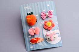 Tela de clips hechos a mano online-Hecho a mano flor horquilla dibujos animados gato orejas diademas aro tela sombreros accesorios para el cabello pinzas para el cabello joyería hr-010