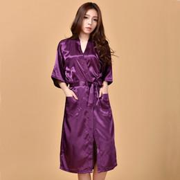 Wholesale Chinese Dresses Plus Size Women - Pink Chinese Style Women Bath Robe Gown Silk Rayon Kimono Night Dress Mujere Pijama Plus Size S M L XL XXL XXXL NR065