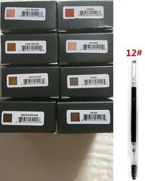 plantilla de polvo de ceja Rebajas 2019 Nueva Ceja Pomada potenciadores de maquillaje a prueba de agua de cejas crema 8 colores con el paquete al por menor de DHL