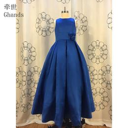 5ed7753e862 2017 Ghands New JJShouse Cheap Satin Bateau Floor-Length Ball Gown Natural  Elegant Sweep Train Junior Bridesmaid Dresses Custom Size Color
