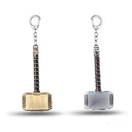 Wholesale Hammer Key Ring - The Avengers Key Chain Thor Hammer Mjolnir Key Rings For Gift Chaveiro Car Keychain Jewelry Game Key Holder Souvenir YS10822