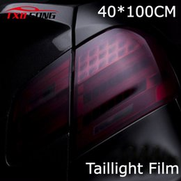 Wholesale Matt Film - 40cm x 100cm car styling Matte Black Headlight Film Tint Taillight Motorbike Headlight Rear Lamp smoked Tinting Film Matt smoke