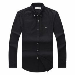 Argentina 2018 19 otoño invierno para hombre Diseñador OXFORD Camisa de vestir de manga larga casual de cocodrilo camisas sociales moda EE. UU. Marca CL polo cheap mens winter shirts casual Suministro
