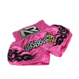 фиолетовые шорты Скидка Фитнес-тренинг Санда Мужчины боксерские шорты женщины Таиланд розовый ММА бокс муай тай боксерские шорты ММА бой шорты