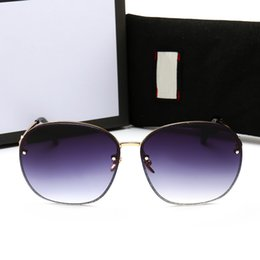 2019 sonnenbrillen farbige linsen New Fashion 0282 Sonnenbrillen Halbrahmen quadratischen Rahmens Ultra-Clear Color Lens Sommer helle dekorative Sonnenbrille mit Box rabatt sonnenbrillen farbige linsen