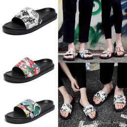 8a7cd94eeb3f men s designer slippers Genuine Leather clip feet flip style European  cartoon lines style Shoes luxury brand sandals beach flip flops