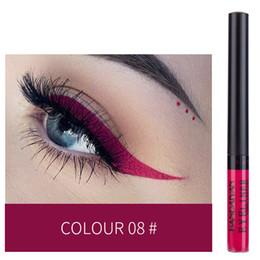 Fabbrica di vendita cosmetici online-Il più nuovo Eyeliner opaco liquido di Handaiyan con 12 colori di trucco cosmetico Vendita calda di alta qualità Colori luminosi Fabbrica libera di trasporto EUB