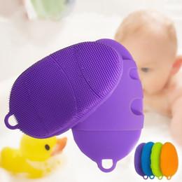Wholesale Shoe Brush Wholesale - Shoe Shape Silicone Brush For Baby Massage Bath Cleaning Brushes Multi Function Exfoliating Shower Glove Non Toxic 7 8rh B