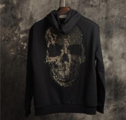 2019 свободные удобные свитера 2019 новый с капюшоном мужской свитер свободные удобные Моды череп шаблон дизайнер пользовательские свитер плюс размер M-4XL дешево свободные удобные свитера