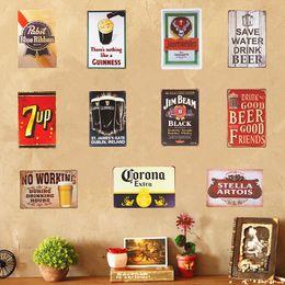 2019 rocce decorative all'ingrosso Corona Extra 7 up Stella Artois Birra Poster Targhe in metallo Bar Pub Cafe Decorazione Art Placca Retro Taverna Decorazioni per la casa