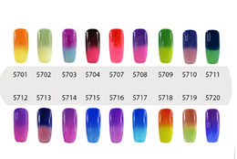 Wholesale Color Changing Nail Polish Temperature - NEW ARRIVAL Elite99 7ml Temperature Change Chameleon Changing Color Soak off UV Nail Gel Polish UV Gel Choose 8 From 54 Color
