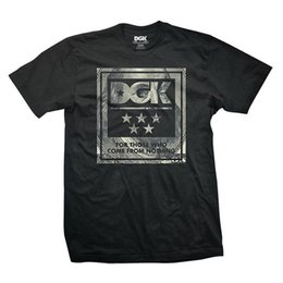 Patineta camiseta hombre online-DGK Hombre Dead President T Shirt Negro Tee Camisetas Ropa Skate Ropa