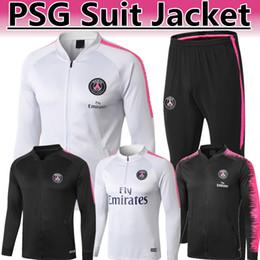 f0e00b289ded 2019 Thai top quanlity PSG Mbappé Buffon black pink Long zipper style Suit  jacket 2018 19 NEW PARIS CAVANI NEYMAR JR white tracksuit