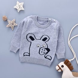 f34ca117a Baby Girls Sweaters Clothes Cute Cartoon Knitted Newborn Boys Pullovers  Jumpers Autumn Long Sleeves Toddler Knitwear