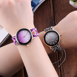 Fashion Handmade Braided Bracelet Watch Simple Retro Watch Women Quartz  Watches bayan kol saati Reloj Mujer b962e779aad7