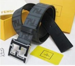 Wholesale formal belts - With box 2018 Brand designer men belts luxury pin buckle genuine leather belts for men designer mens belt F women waist belts free shipping