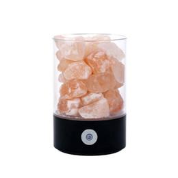 Canada Lampe Rock Naturel USB Rechargeable Cristal Sel Lumière Purificateur D'air Décor À La Maison Petite Nuit Lumière Eye Care Ioniseur cheap eye rocks Offre
