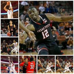 Wholesale Black Evans - Texas Tech 12 Keenan Evans 2 Zhaire Smith 1 Brandone Francis 32 Norense Odiase 25 Davide Moretti Custom College Basketball Jerseys
