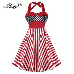 Plus Size Retro Vestidos Das Mulheres Do Vintage Rockabilly Robe Pin Up Vestidos de Festa de Polca Dot Xadrez Listrado Balanço Halter Feminino Vestidos de