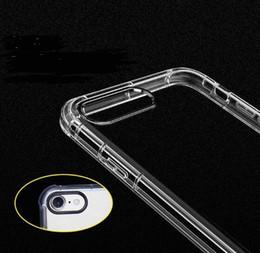2019 proteção para telefones celulares Novo anti-queda transparente tpu mobile phone case proteção iphone6 / 7 / 8plus quatro-canto airbag anti-queda soft shell proteção para telefones celulares barato
