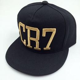 2019 cr7 caps CR7 Snapback Fútbol Sombreros Gorras de béisbol Deportes Bordado Sombreros Casquette Hip Hop Cristiano Ronaldo Gorras Para Hombres Mujeres Alta calidad rebajas cr7 caps