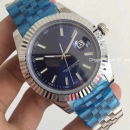 Wholesale mens under - 2018 AAA Quality 41mm Datejust Steel Blue Dial Mechanical Automatic Mens Role Watch Luxury Brand Reloj Business Fashion 126334 Watches