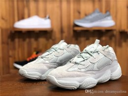6587560ed6f50 2018 500 Salt EE7287 Desert Grey 1987Yeezy 500S Men Women Running Shoes  Kanye West Authentic Sports Sneakers With Original Box Brand Design