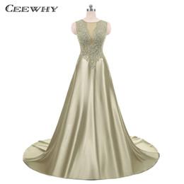 Wholesale Taffeta Robe - CEEWHY Robe De Soiree Lace Evening Dress Luxury Prom Dresses Long Evening Gown Bride Banquet Party Dress Vestido de Festa