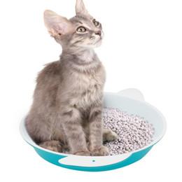 Pastiglie per la pulizia del bagno online-Lettiera per gatti con tappetino in plastica Pet Cat Rabbit Pee Toilette per gatti Setacciare gatti Litter Box Pipe Pad Vassoio Pet Trainer Cleaning