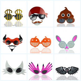 Occhiali da sole del partito di natale online-Halloween Christmas Party Occhiali da sole Funny Ghost Occhiali Dollar Cat Mask Masquerade Ball Exquisite Portable Eyeglass Bambini regalo 5cr jj