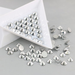 Wholesale Art Stocking - Flat Back Nail Art Deco Non Hotfix Rhinestones Decoration Glue On Stone In Stock SS3-SS30(Silver Hematite)