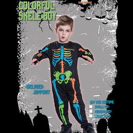 vestido de carnaval vintage Desconto Esqueleto Traje Do Menino Fantasma Sanguinário Halloween Costume Carnaval Crânio Fantasma Horror Crianças Roupas Para Cosplay Vestido de Festa Onesies