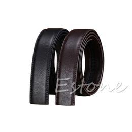 "Wholesale Ribbon Belt Men - Luxury Men""s Leather Automatic Ribbon Waist Strap Belt Without Buckle POP -Y107"