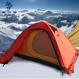 Wholesale Painting Poles - Hillman 2 man Snow mountain Ultralight painted silicon double layers tents aluminum pole Camping Mountaineering Tent 4 season