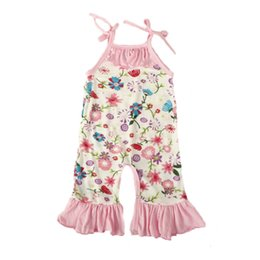 Wholesale Newborn Clothes Sale - 0-24M Baby Girls Clothing Printed Sleeveless Leotard Newborn Rompers Summer Infant Jumpsuit Baby Girls Clothes Hot Sales