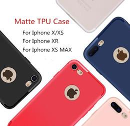 Custodia in silicone TPU satinato ultra-sottile per telefono cellulare Custodia antiurto in silicone per iPhone X XS MAX XR 8 7 6 Plus con tappo antipolvere DHL da