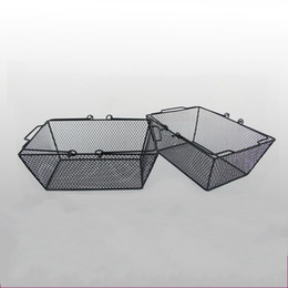 wire mesh organizer Coupons - Metal Wire Mesh Storage Basket Durable With Handles Black Shopping Bastkets Sturdy Wear Resistant Organizer High Quality 30jh B