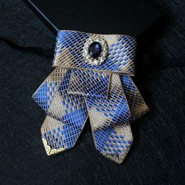 Gravata de xadrez a lã amarela on-line-Boutique Vogue Azul Amarelo Xadrez Roupas Acessórios Masculinos Bow Tie Gentleman Noivo Melhor Homem Anfitrião Banquete Wedding Collar Flor
