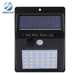 Wholesale solar panel led lamps - Waterproof 30 LED Solar Light Solar Panel Power PIR Motion Sensor LED Garden Light Outdoor Pathway Sense Solar Lamp Wall Light