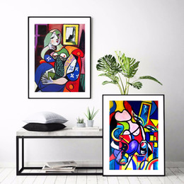 acquerello mondo famoso Picasso donne pittura astratta su tela casa HD stampa soggiorno deco Wall art decorare poster da biancheria da letto floreale pittura ad olio fornitori
