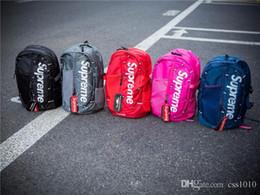 2018 Nouveau sup Sac à dos 18AW sac d'école de mode sacs de sport hommes et femmes sacs à dos de voyage en plein air sacs 5 couleurs ? partir de fabricateur