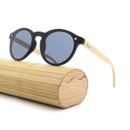 Espejo enmarcado de bambú online-Nuevas Gafas de Sol de Madera Retro Hombres Gafas de Sol de Bambú Mujeres Gafas de Deporte Polarizadas UV400 Espejo de Oro Gafas de Sol Tonos de Marco de Madera