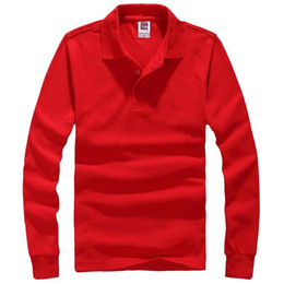 Hombres a estrenar camiseta Sólido de manga larga Slim Fit T Shirt Mens camiseta de algodón Camisetas casuales más tamaño XXXL Marca de ropa desde fabricantes