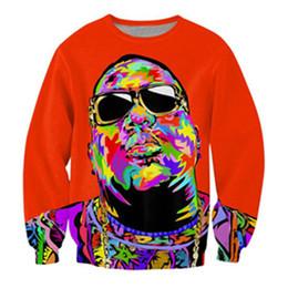 biggie smalls pulôver Desconto Mais recente moda B.I.G. Biggie Smalls Tupac 3d Imprimir Suores Moda Vestuário Mulheres Homens Camisola Pullovers Casuais K197