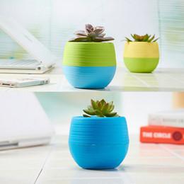 2019 grandi vasi da giardino Vendita calda giardino 7 * 7cm all'ingrosso vasi di fiori Mini Flowerpot giardino infrangibile plastica vivaio pentole per piante succulente