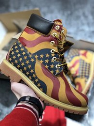 Wholesale Wedge Sneakers Men - New 10061 Classic Snow Boots Genuine Leather Waterproof Big Yellow Boots Men and Women Designer Shoes Sneakers Mens Shoes Work Boots